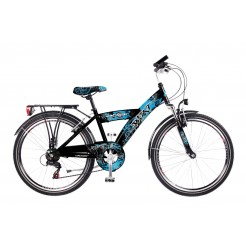 Abrar Beat 24 inch jongensfiets Blue/Black 6SP