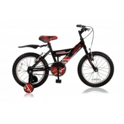 Abrar Circus Boys 18 inch jongensfiets Black/Red (freewiel + 2 handremmen)