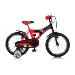 Abrar Rocky Boy 12 inch jongensfiets Black/Red (freewiel + 2 handremmen)