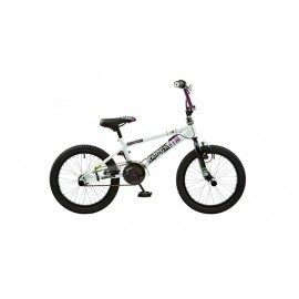 Abrar Rooster Radical 18 inch BMX fiets wit purper
