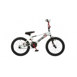 Abrar Rooster Radical 18 inch BMX fiets wit rood