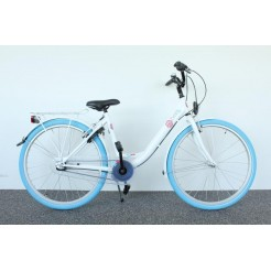 Bike Fun 26PM25 Pure 26 inch meisjesfiets Wit/Blauw