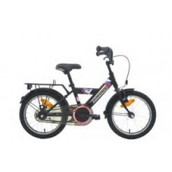 Bike Fun Air Force 18 inch jongensfiets Matzwart/Rood