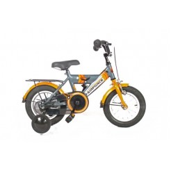 Bike Fun Airforce 12 inch jongensfiets Titaan/Oranje