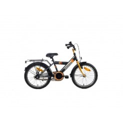 Bike Fun Airforce 16 inch jongensfiets Antraciet/Oranje
