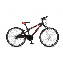 Bike Fun Crash Bike 24 inch jongensfiets Nexus 3 Matzwart/Rood