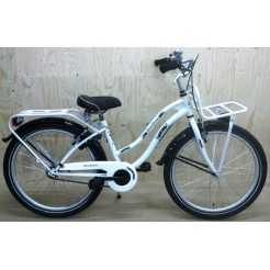 Bike Fun Crazy Cruiser 24 inch meisjesfiets Wit Zwart