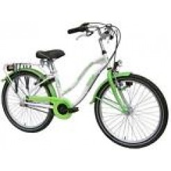 Bike Fun Crazy Cruiser 20 inch meisjesfiets Wit/Groen