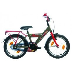 Bike Fun Disney Cars H 18 inch jongensfiets Rood/Groen