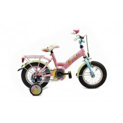 Bike Fun Disney Princess 12 inch meisjesfiets Roze/Lichtblauw