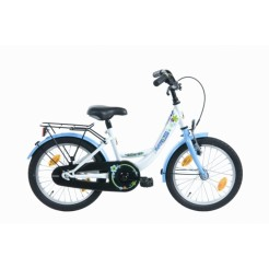 Bike Fun Flower 16 inch meisjesfiets Wit/Blauw