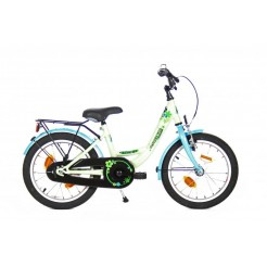 Bike Fun Flower Fun 16 inch meisjesfiets Mint/Blauw