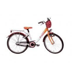 Bike Fun Girl Fun 20 inch meisjesfiets Wit/Oranje
