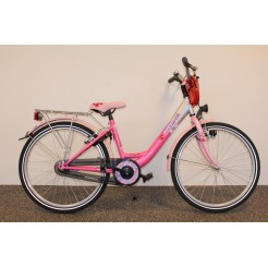 Bike Fun Girls Fun 24 inch meisjesfiets Fuchsia Roze