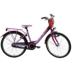 Bike Fun Girls Fun 24 inch meisjesfiets Licht/Donkerpaars