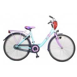 Bike Fun Girls Fun 26 inch meisjesfiets Turquoise/Paars