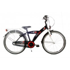 Bike Fun Jump 4 Fun 24 inch jongensfiets Nexus 3 zw/wit/red