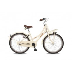 Bike Fun Load Cargo D 24 inch meisjesfiets Wit Bruin Nexus 3