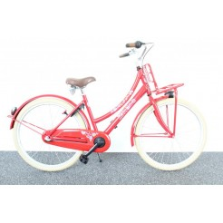Bike Fun Love & Peace 24 inch meisjesfiets Rood Nexus 3