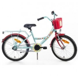 Bike Fun Poppy 18 inch meisjesfiets Mint Rood