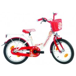 Bike Fun Poppy 18 inch meisjesfiets Wit/Rood