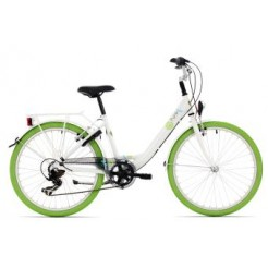 Bike Fun Pure 26 inch meisjesfiets Wit/Groen N3