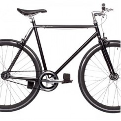 Birota Hammer 28 inch fixed gear fiets Black