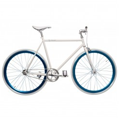Birota Hammer 28 inch fixed gear fiets White/Blue