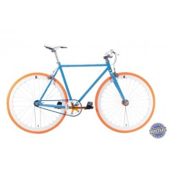 Cheetah 3.0 fixed gear fiets Blue/Orange Tyre 54cm