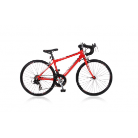 Elite Italia 24 inch racefiets Rood Shimano Tourney 14SP