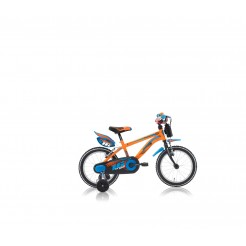 Lombardo Brera 16 inch jongensfiets Orange/Blue (freewiel met 2 handrem)
