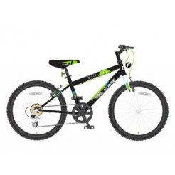 Lombardo Flame 20 inch mountainbike Black/Green derr 6SP