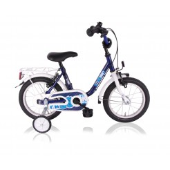 Lombardo Passion 12 inch jongensfiets Blue White remnaaf + 2 handrem