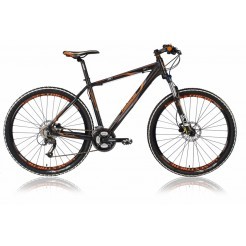 Lombardo Sestriere 350 27.5 17 inch mountainbike Black Orange