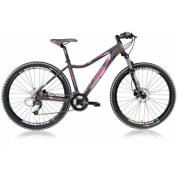 Lombardo Sestriere 350 Lady 27.5 19 inch mountainbike Black Fuchsia ...