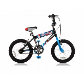 Magic Acrobat Boys 20 inch jongensfiets Black Blue freewheel + 2 handrem