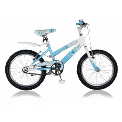 Magic Aurora 18 inch meisjesfiets Blauw/Wit (freewiel + 2 knijpremmen)