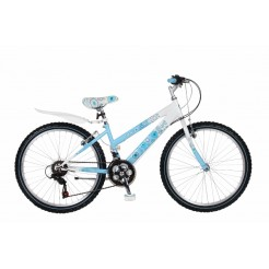 Magic Aurora 24 inch meisjesfiets Blauw/Wit Shimano 18SP