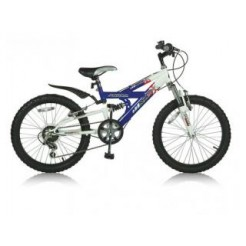 Magic MX 20 inch mountainbike Blauw/Wit Shimano 6SP + 2 handremmen