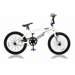 Magic Squad 20 inch jongensfiets Wit/Blauw