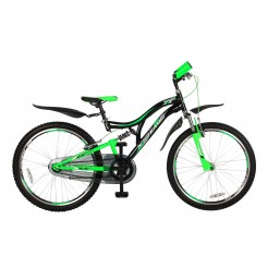 Magic X Treme 26 inch mountainbike Zwart/Groen FS Nexus 3