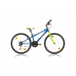 Marlin Adam 24 inch mountainbike Blauw/Groen Shimano 18SP