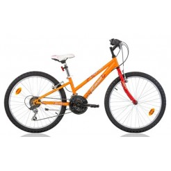 Marlin Emma 24 inch mountainbike Oranje Rood 18SP