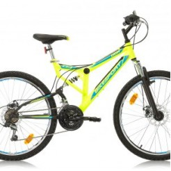 Marlin Paralax 26 inch mountainbike Yellow/Black F/S Shimano 18SP