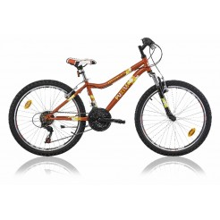 Marlin Puzzle 24 inch mountainbike Red Black 18SP