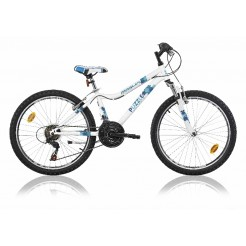 Marlin Puzzle 24 inch mountainbike White Blue 18SP