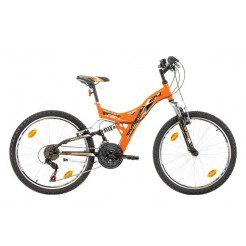 Marlin Tambora 24 inch mountainbike Orange Black Shimano 18SP