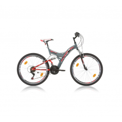 Marlin Tambora 26 inch mountainbike Grey Red Shimano 18SP