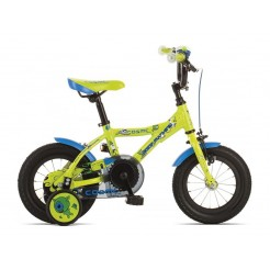 Rock Machine Cosmic 12 inch jongensfiets Lime/Blauw