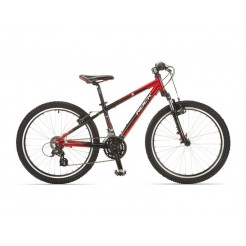 Rock Machine Storm 24 inch mountainbike Zwart/Rood 24SP